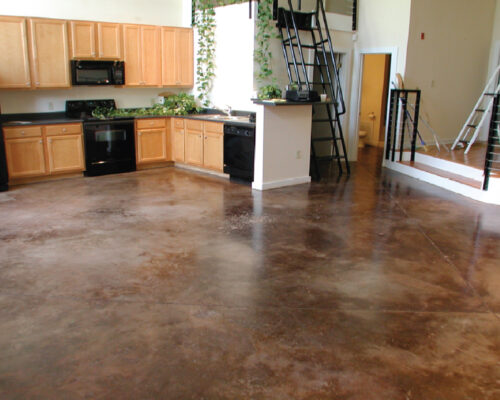 Concrete color stained